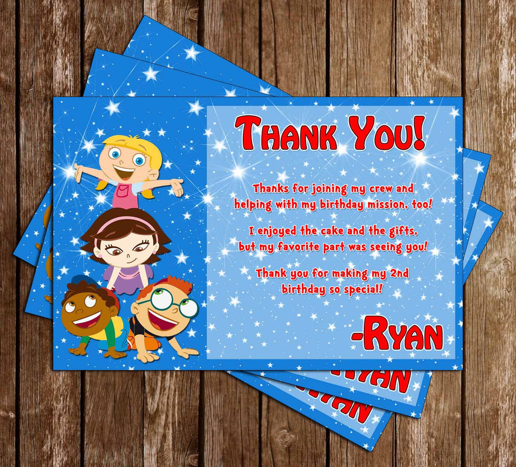 Disney Little Einsteins Birthday Thank You Card