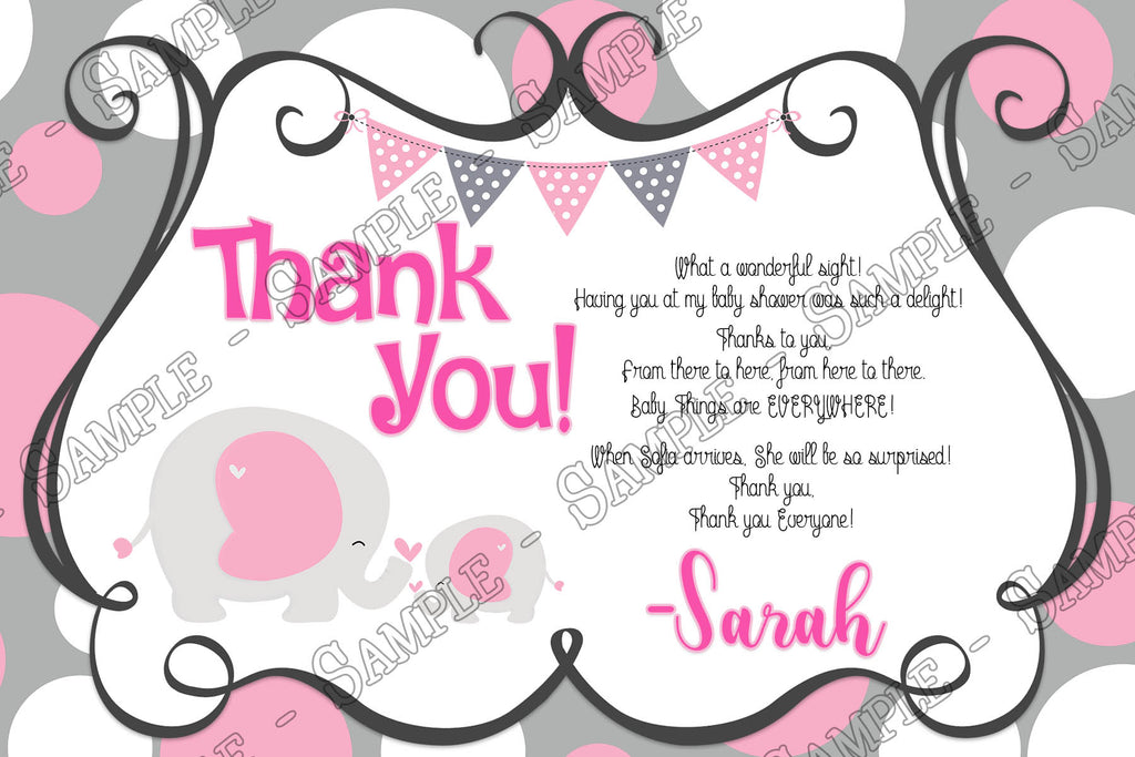 novel concept designs baby elephant mother baby shower thank