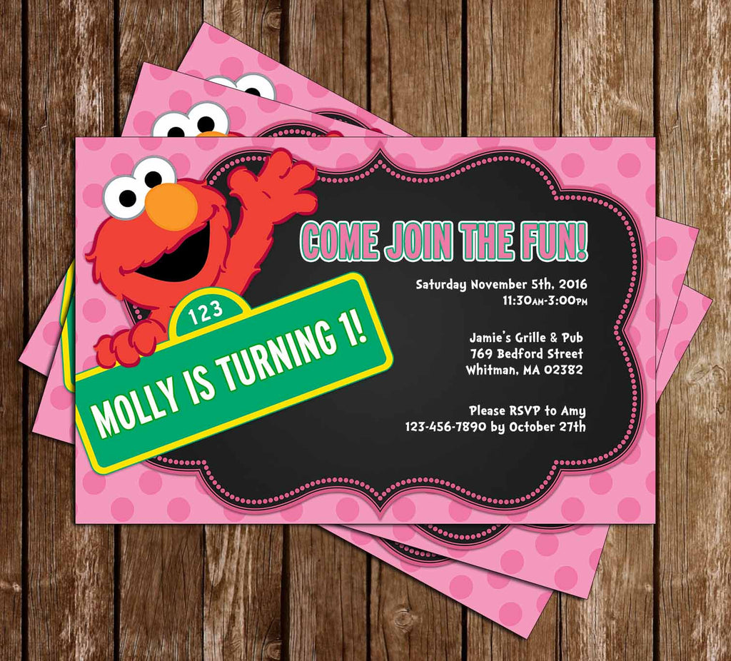 Novel concept designs elmo little girl birthday party invitation elmo little girl birthday party invitation filmwisefo