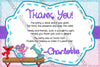 Elmo - Sesame Street - Gymnastics - Birthday Party - Thank You Card