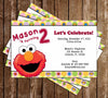 Sesame Street Elmo Show Birthday Party Invitation