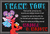 Elmo & Abby - Sesame Street  - Birthday Party - Invitation