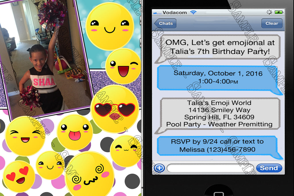This is a photo of Exhilarating Emoji Invitations Printable Free
