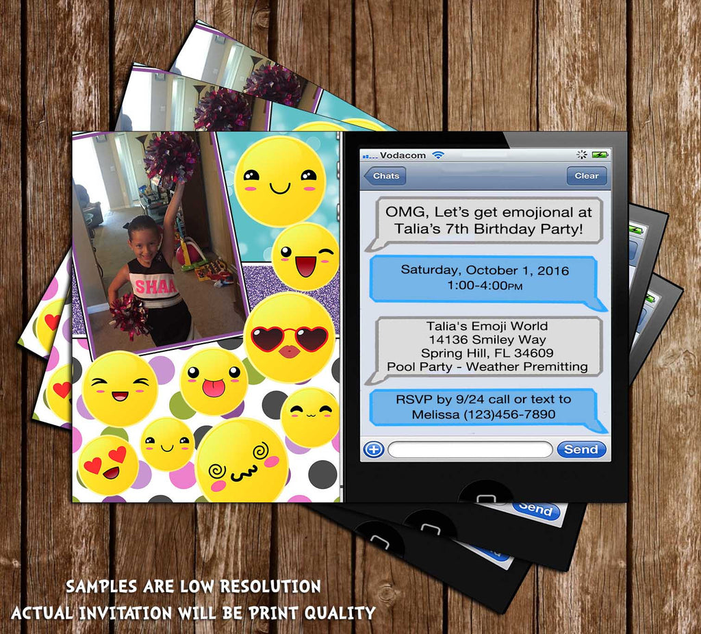 It is a picture of Emoji Invitations Printable pertaining to smiley face