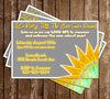 End of Summer - New School Year - Birthday Invitation