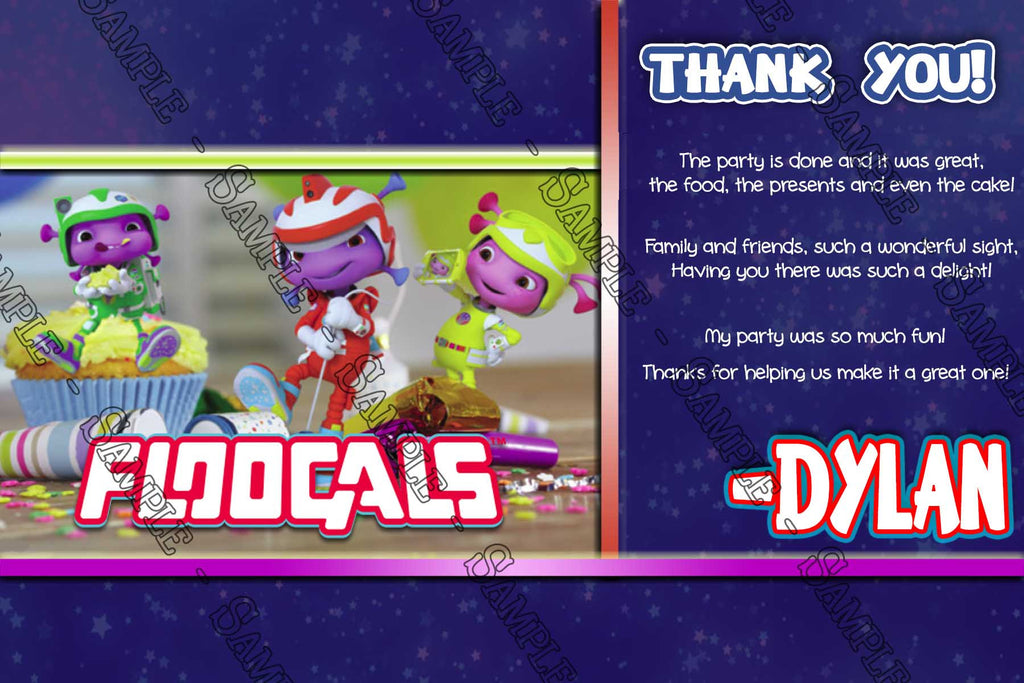 Novel Concept Designs Floogals Sprout Birthday Party Thank
