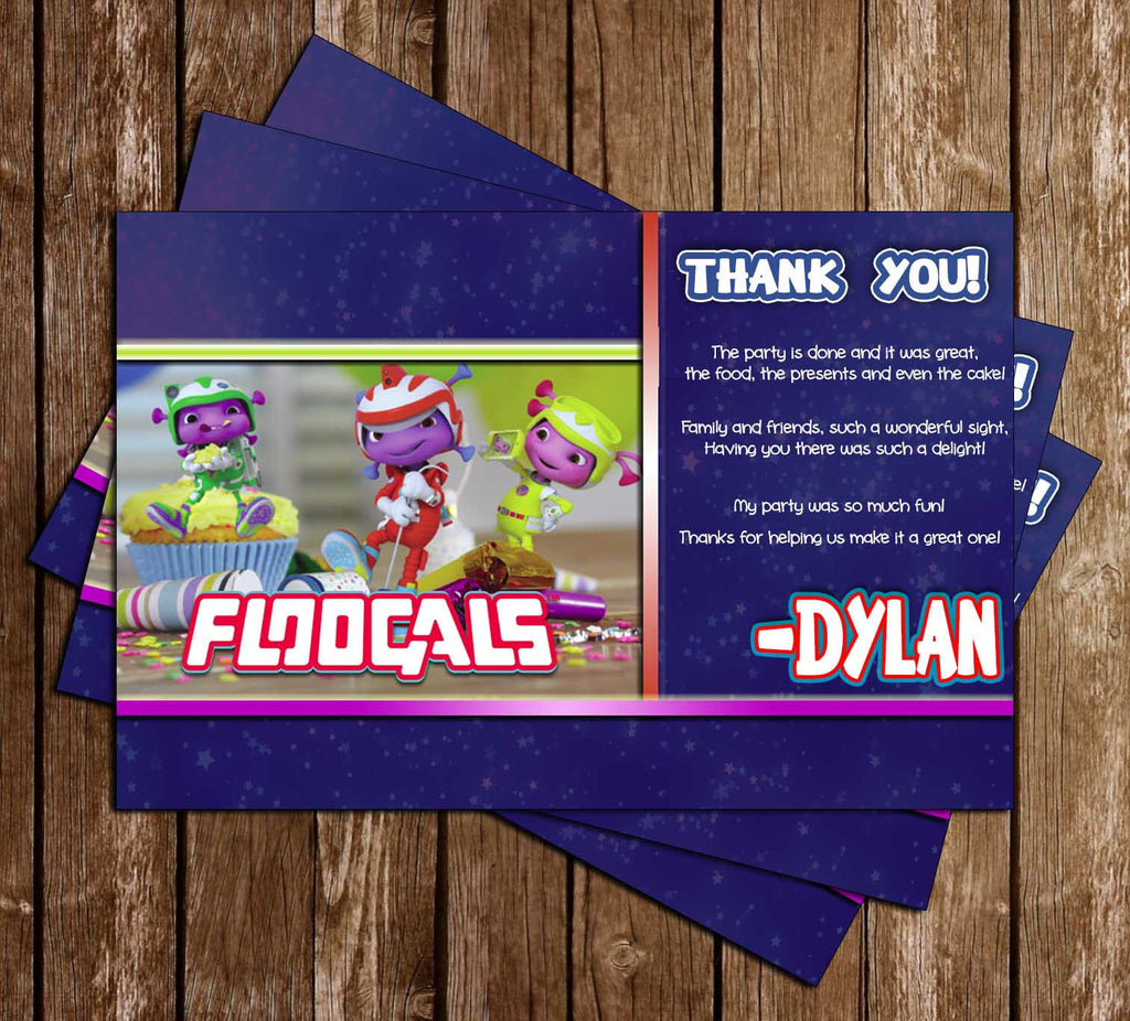 Floogals -  TV SHOW - Birthday Party - Thank You Card
