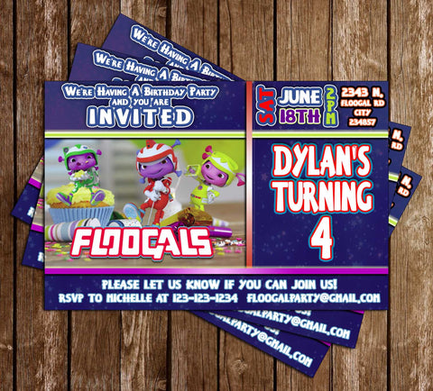 Floogals - Tv Show - Birthday Party - Invitation