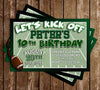 Football - Let's Kick Off - Birthday Party - Invitation