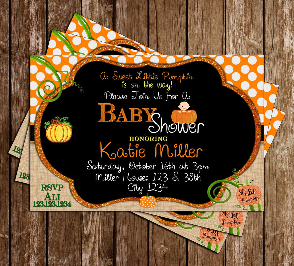 Little Pumpkin - Baby Shower - Invitation