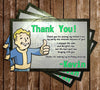 Fallout 4 Pipboy Birthday Party Thank You Cards