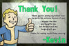 Fallout 4 - Pipboy Birthday Party Thank You Cards
