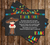 No time to Siesta - Fiesta - Birthday Party - Thank You Card