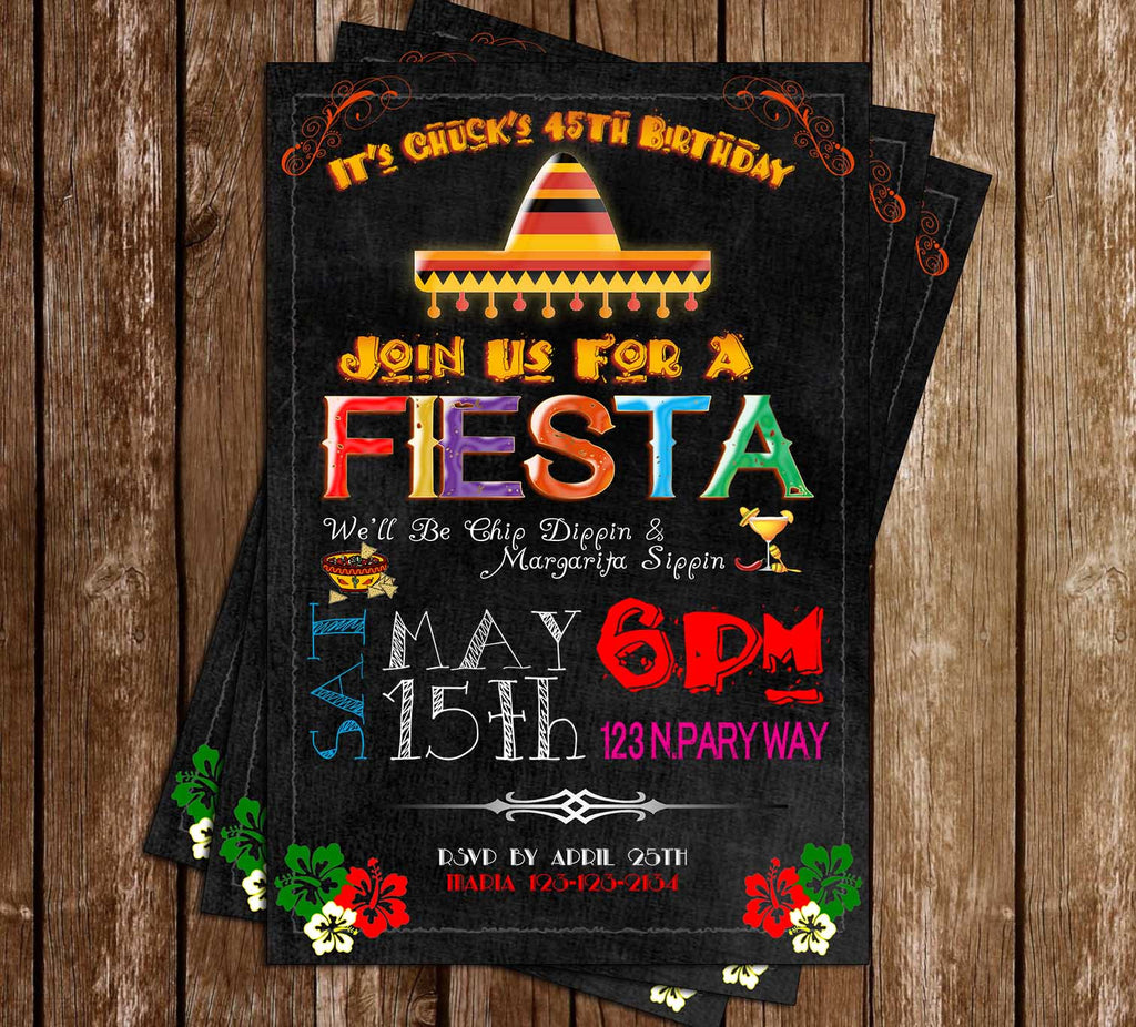 Fiesta - Birthday Party - Invitation