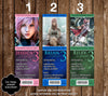 Final Fantasy 13 Game Birthday Party Ticket Invitations