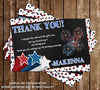 Little Firecracker - Fourth of July - Birthday Thank You Card