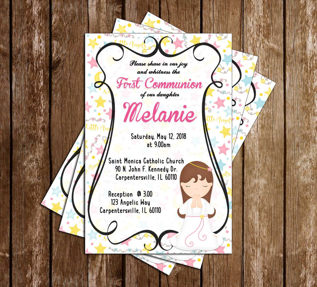 First Communion -  Little Girl - Invitation