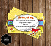 Dr Seuss - One Fish - Two Fish - New Fish Baby Shower Thank You Card