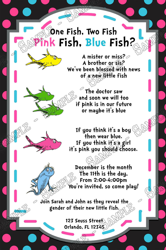 One Fish, Two Fish   Gender Reveal   Baby Shower   Invitation