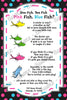 Dr Seuss - One Fish, Two Fish - Gender Reveal - Baby Shower - Invitation