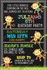 Five Little Monkeys - Birthday - Party - Invitation