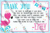 Flamingo - Birthday - Birthday Party - Thank You Card