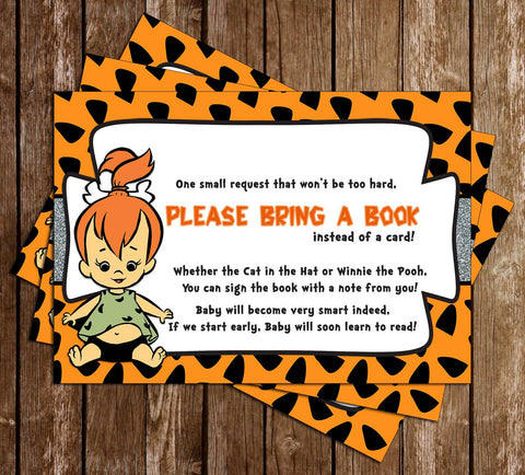 Pebbles - Flintstones - Baby Shower - Bring a Book Insert