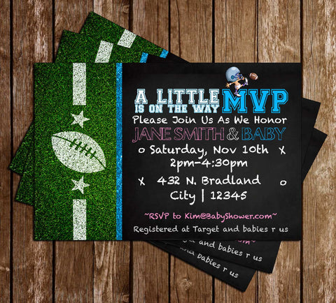 Football   MVP   Baby Shower   Invitation