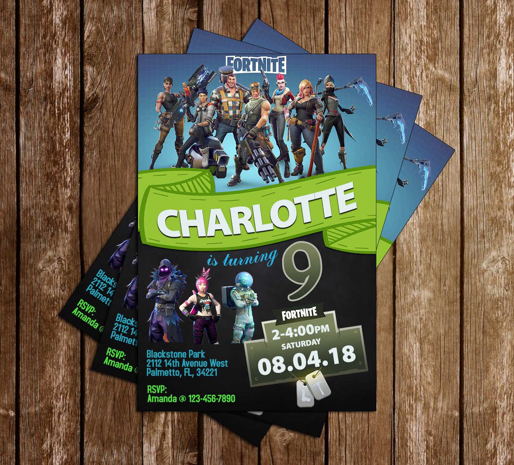 Fortnite - Game - Birthday Party - Invitation