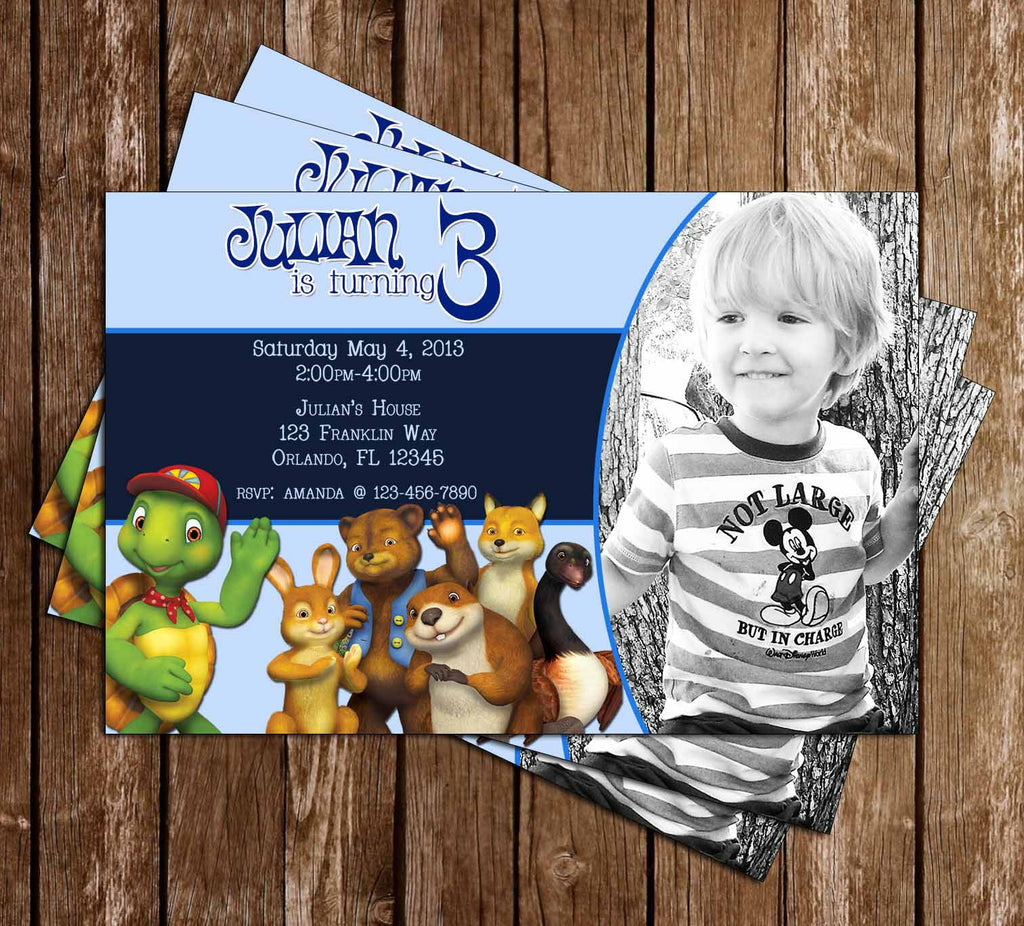 Franklin and Friends Birthday Invitation