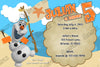 Disney's Frozen Olaf Pool or Beach Birthday Party Invitation