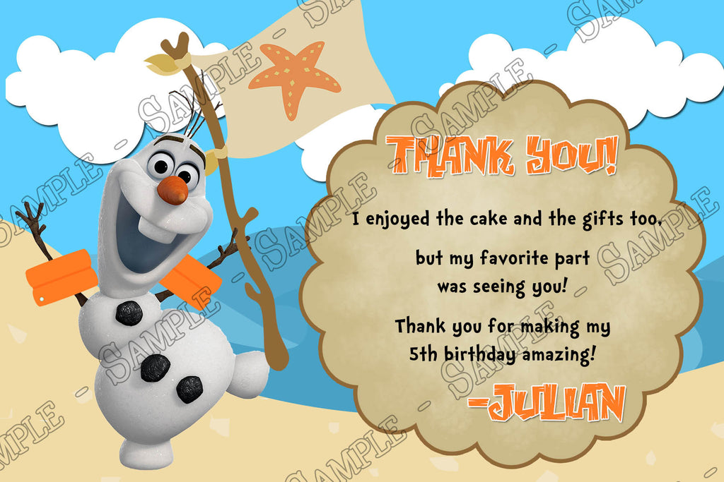 Novel Concept Designs Frozen Olaf Pool or Beach Birthday Party – Party Invitations Frozen