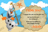 Disney's Frozen Olaf Pool or Beach Birthday Thank You Card