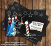 Disney Frozen Movie Chalkboard Christmas Holiday  Card