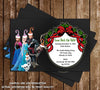 Disney Frozen Movie Chalkboard Christmas Holiday Party Card