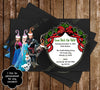 Frozen Movie Chalkboard Christmas Holiday Party Card