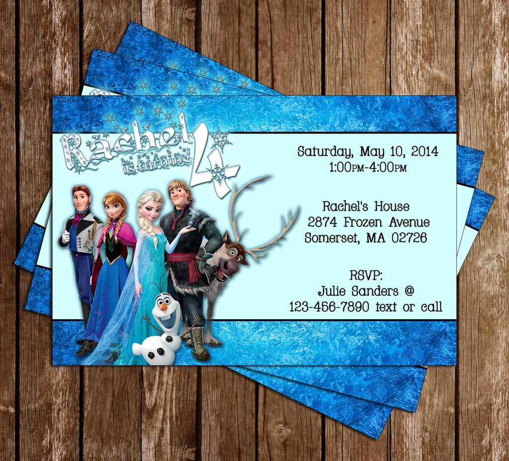 Disneys Frozen Birthday Party Invitation Enlarge Image