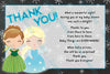 Frozen - Winter Theme - Elsa & Anna - Baby Shower Thank You Card