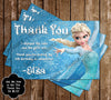 Disney's Frozen Birthday Party Thank You