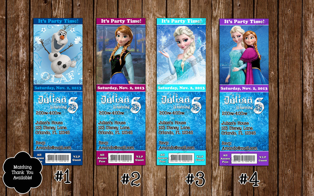 Novel Concept Designs Disneys Frozen Birthday Party Invitation