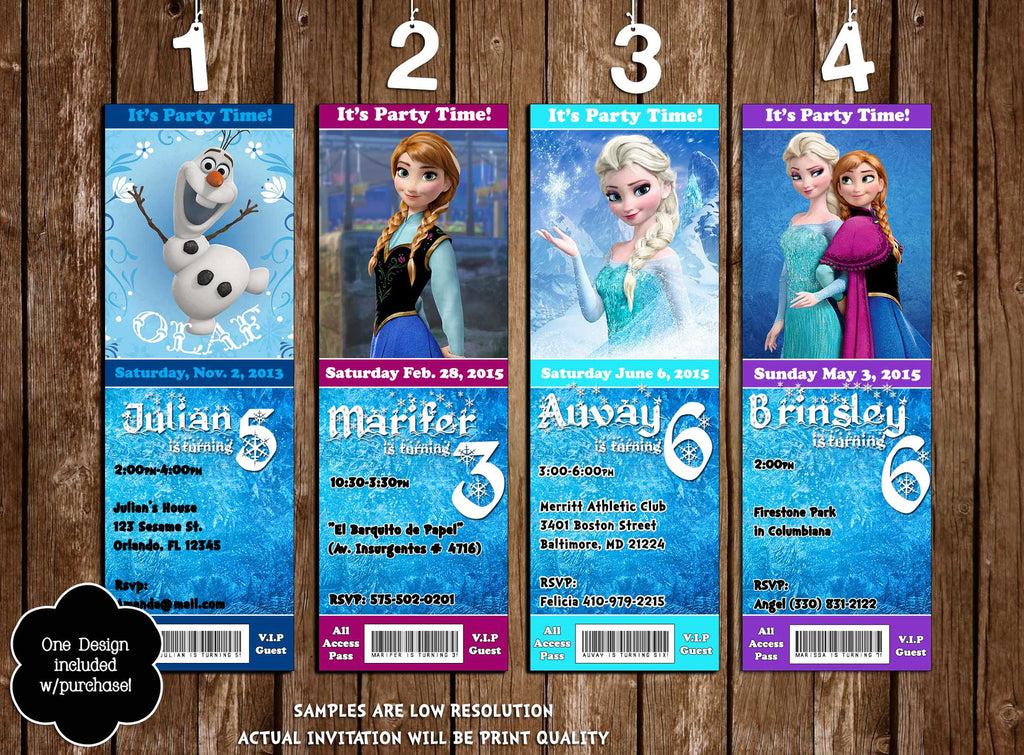 Novel Concept Designs  DisneyS Frozen Movie Birthday Party