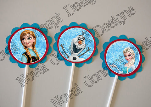 Free Frozen Birthday Cupcake Topper / Party Favor