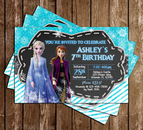 Disney's Frozen 2 - Birthday Party - Invitation