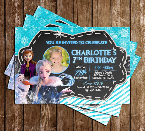 Disney's Frozen 2 - Photo - Birthday Party Invitation