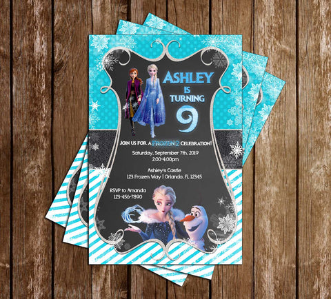 Disney's Frozen 2 - Tall - Birthday Party Invitation