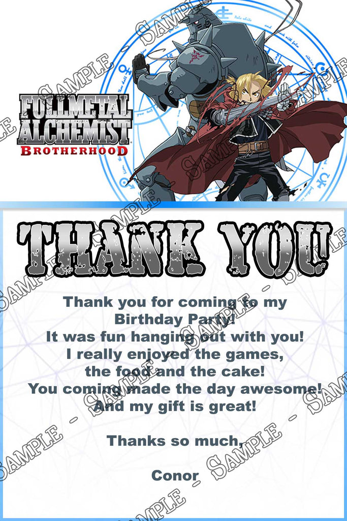 Novel concept designs fullmetal alchemist anime birthday party fullmetal alchemist anime birthday party invitation filmwisefo