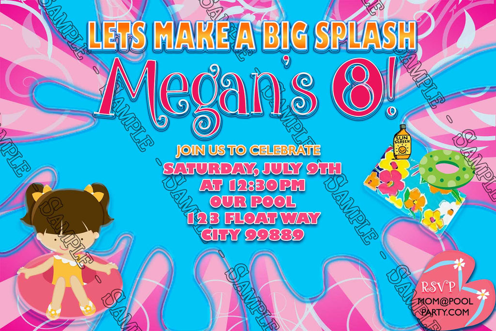 novel concept designs pool party girls swimming birthday