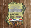 GI Joe - Military - Birthday Party - Invitation