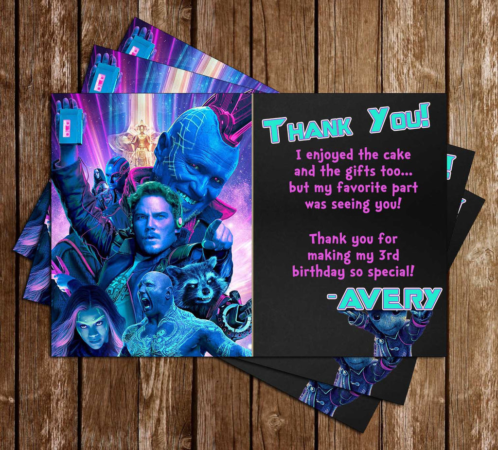 Guardians of the Galaxy Vol 2 - Birthday - Thank You Card