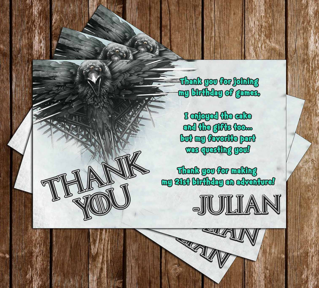 Game of Thrones Birthday Thank You Card